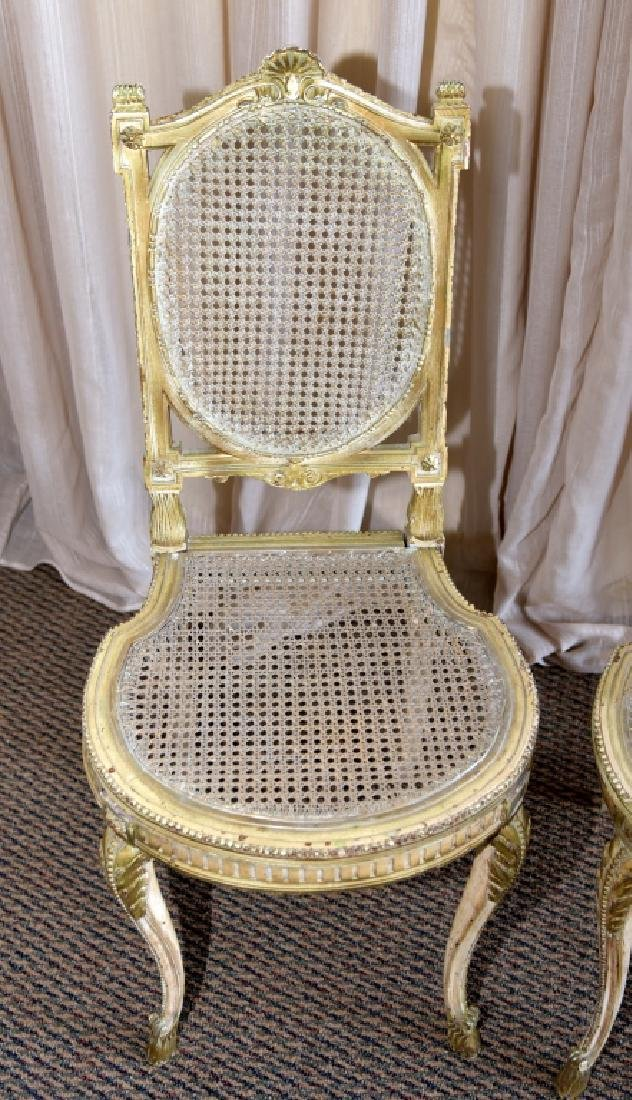 Pair Louis XV Chairs w/Cane Back & Seats - 3