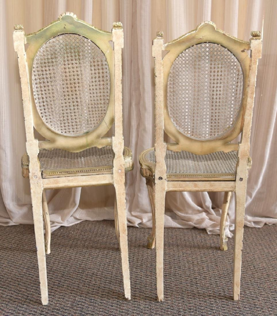 Pair Louis XV Chairs w/Cane Back & Seats - 6