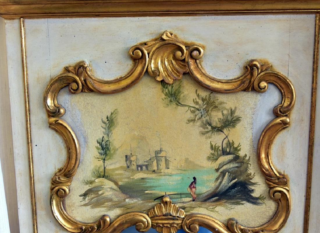 Louis XV Style Trumeau Mirror - 2