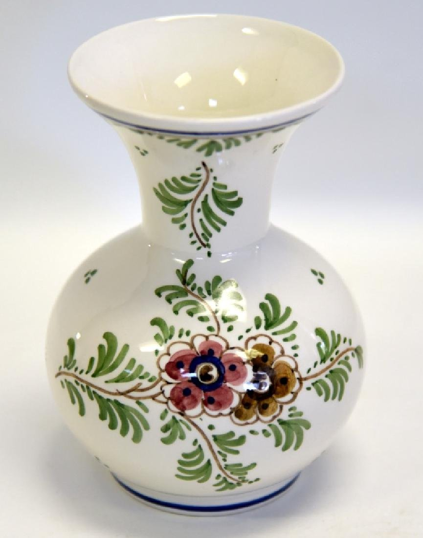 Delft Handpainted Polychrome Vase w/Flaring Neck - 2