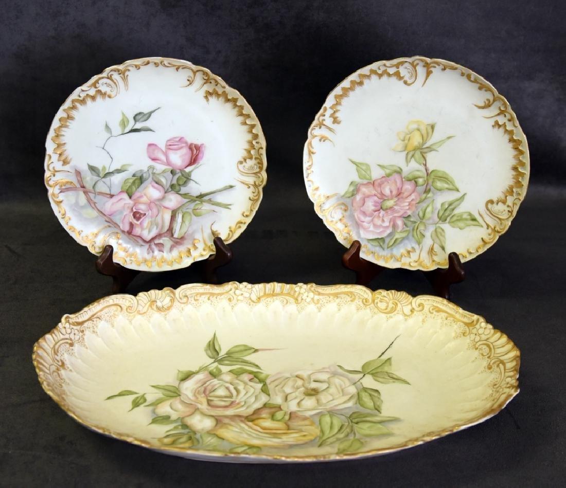 Limoges Platter & Plates Handpainted in 1893