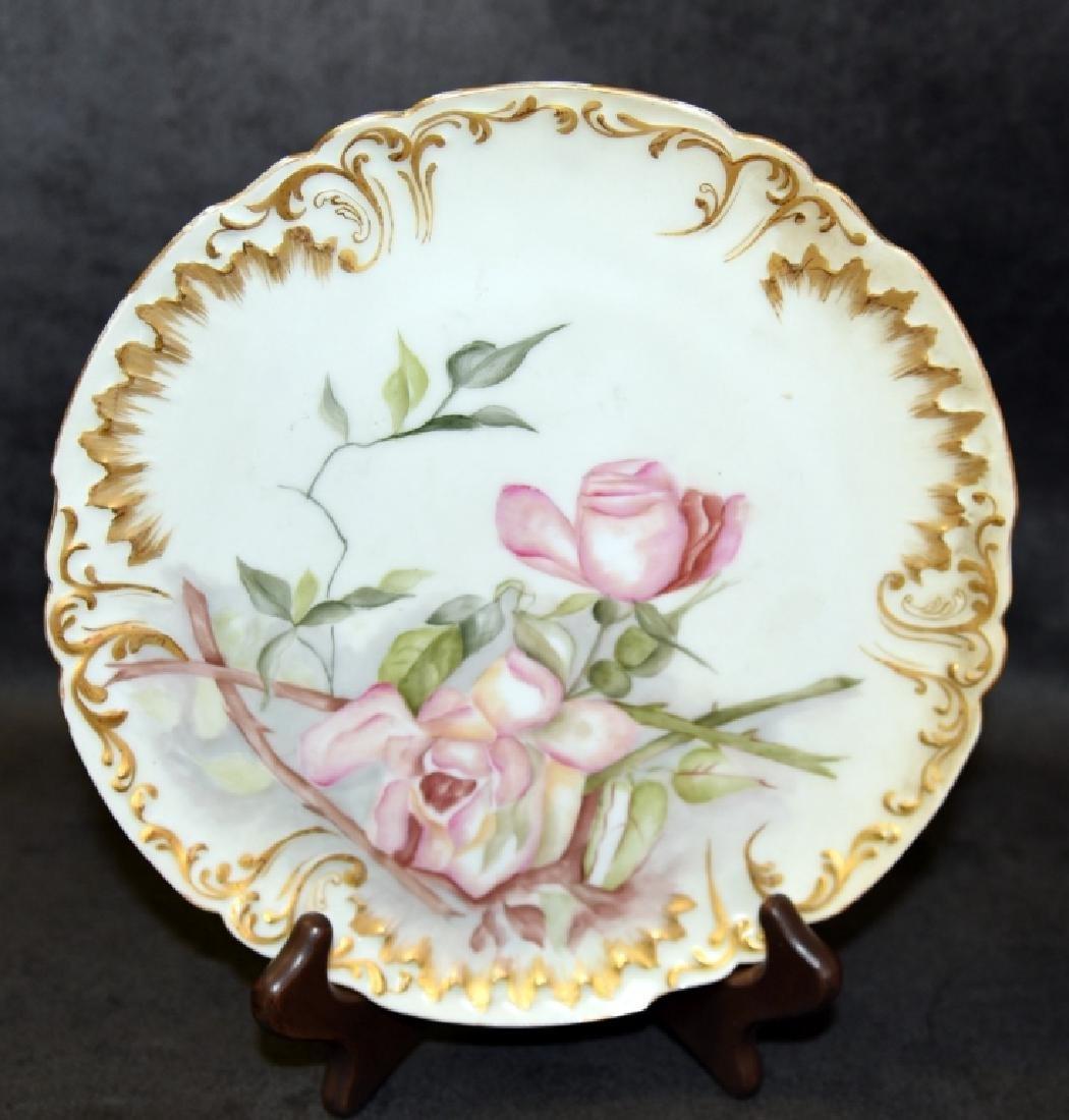 Limoges Platter & Plates Handpainted in 1893 - 2