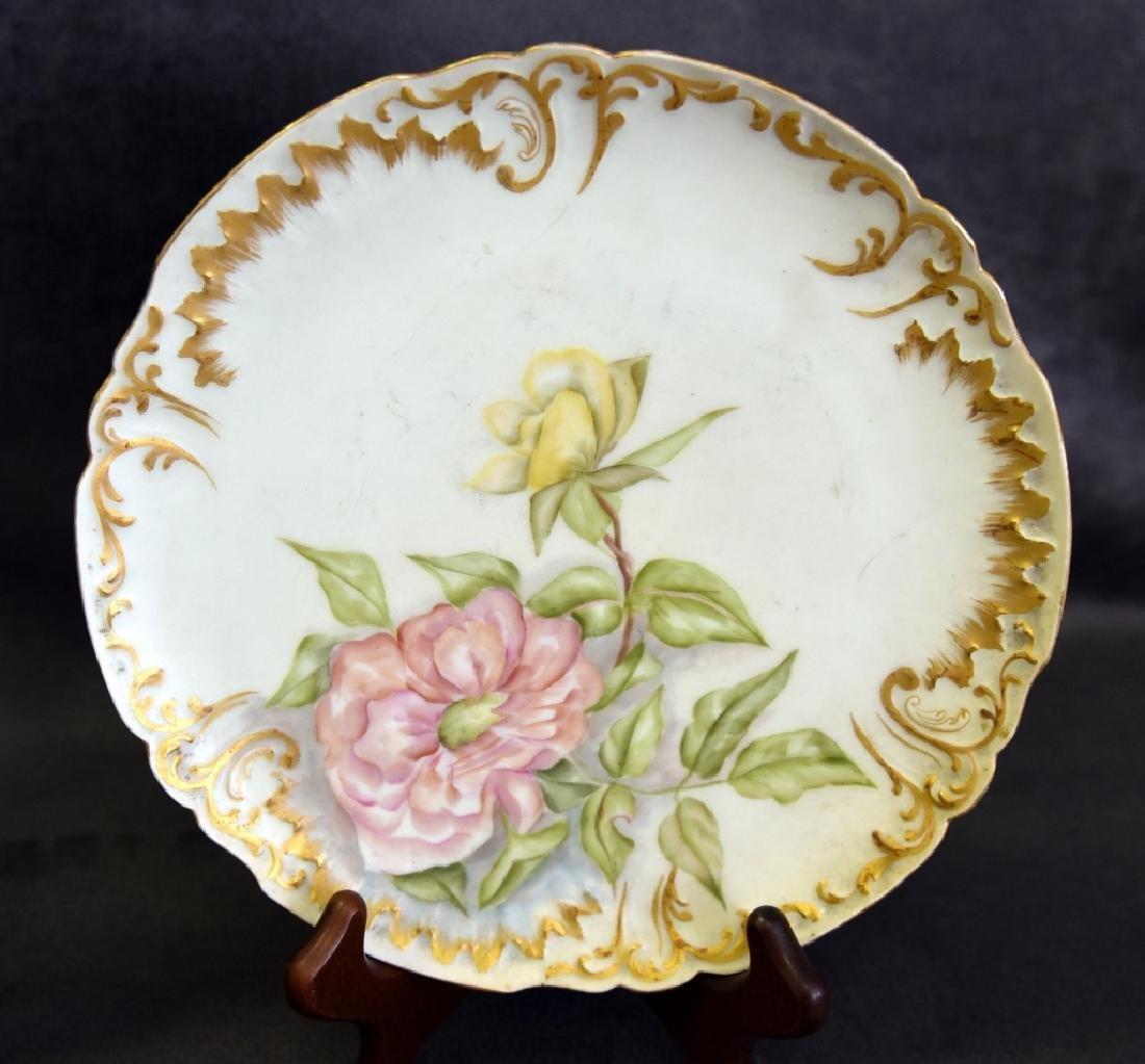 Limoges Platter & Plates Handpainted in 1893 - 3