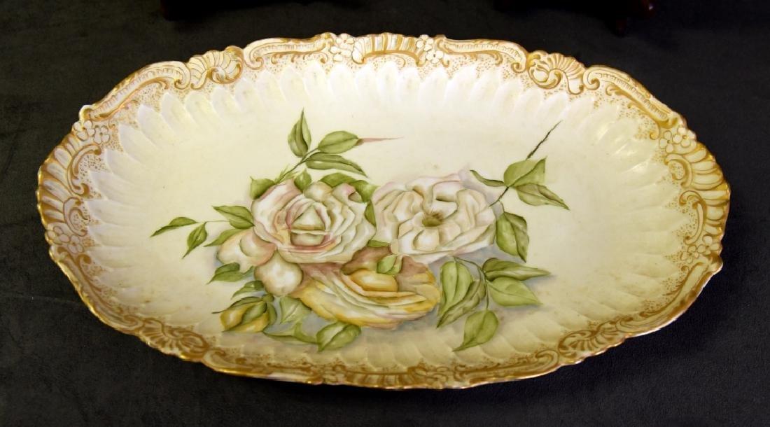 Limoges Platter & Plates Handpainted in 1893 - 4
