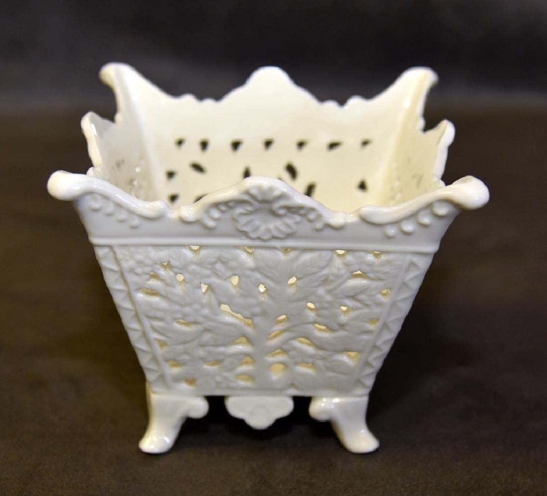 Pierced & Interlaced Planters & Porcelain Plate - 3
