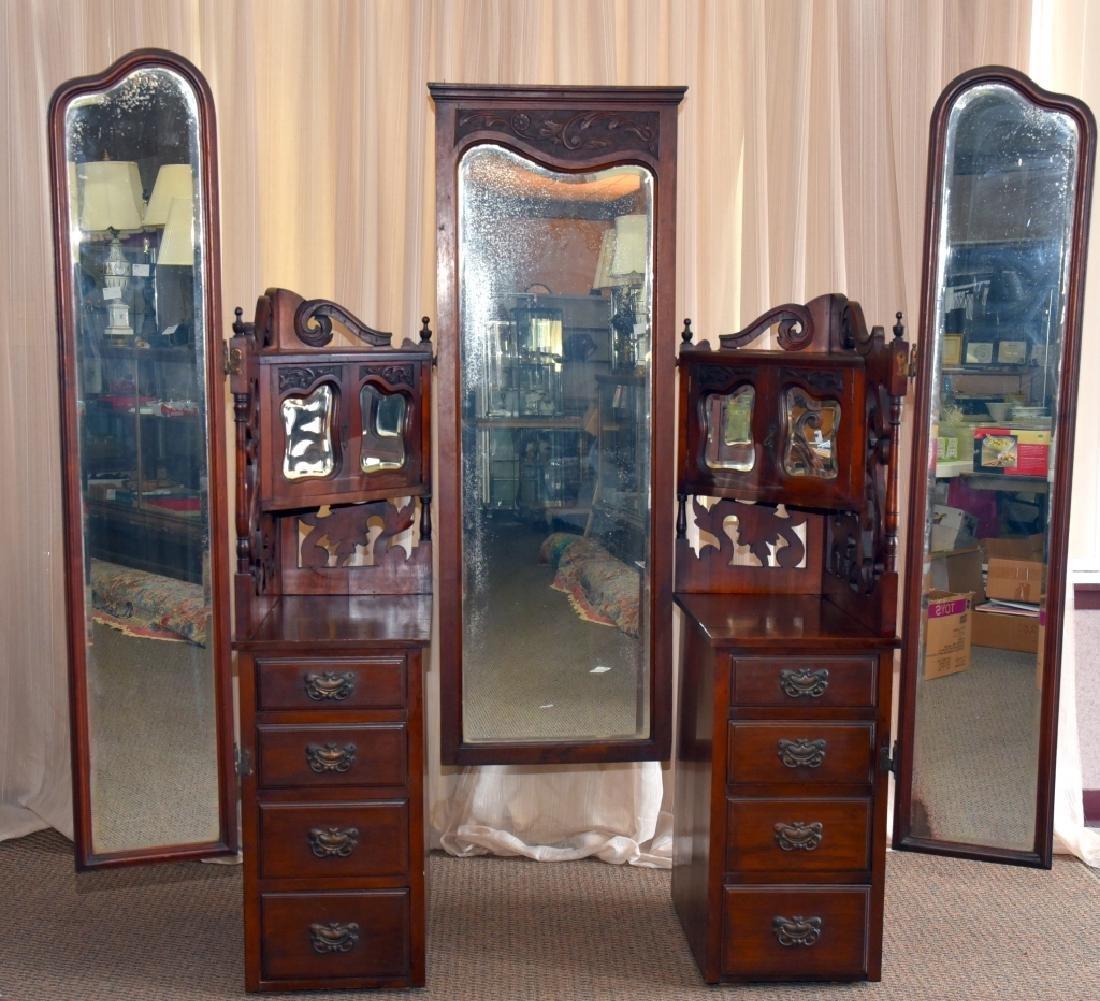 Victorian/Edwardian Dressing Chest & Mirrors