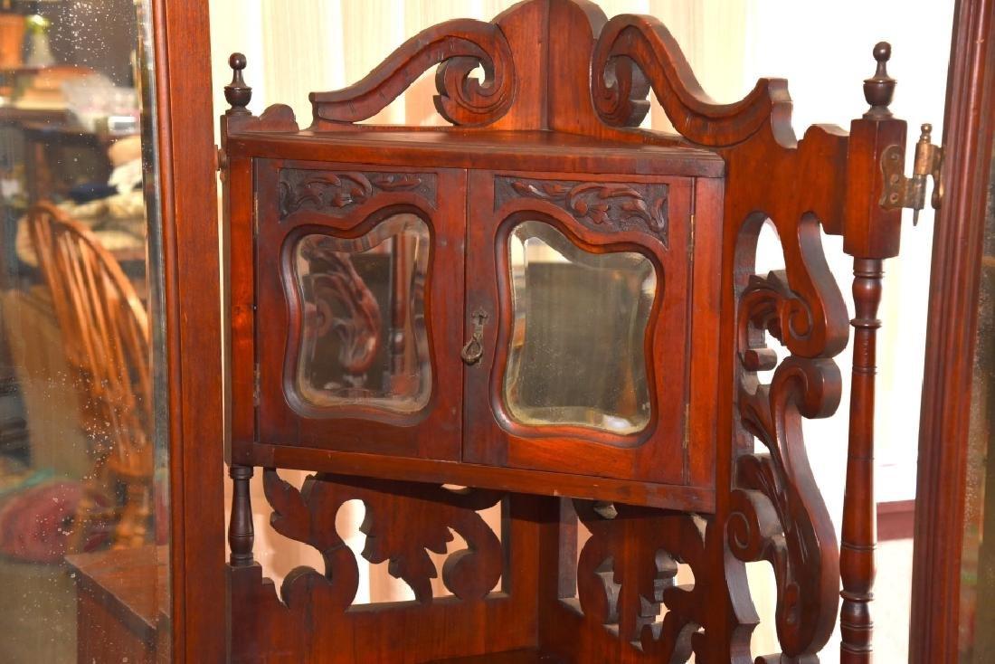 Victorian/Edwardian Dressing Chest & Mirrors - 3