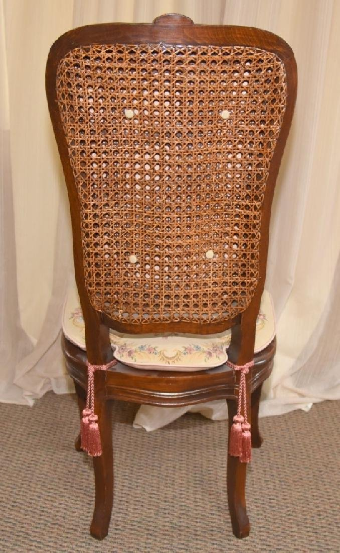 Vintage French Style Cane Side Chair - 3