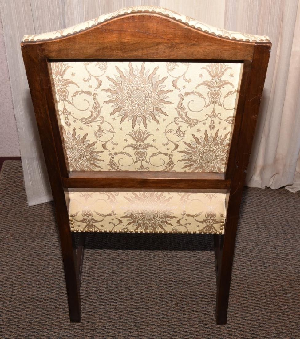 Vintage Carved Open Arm Chair w/Paw Feet - 3