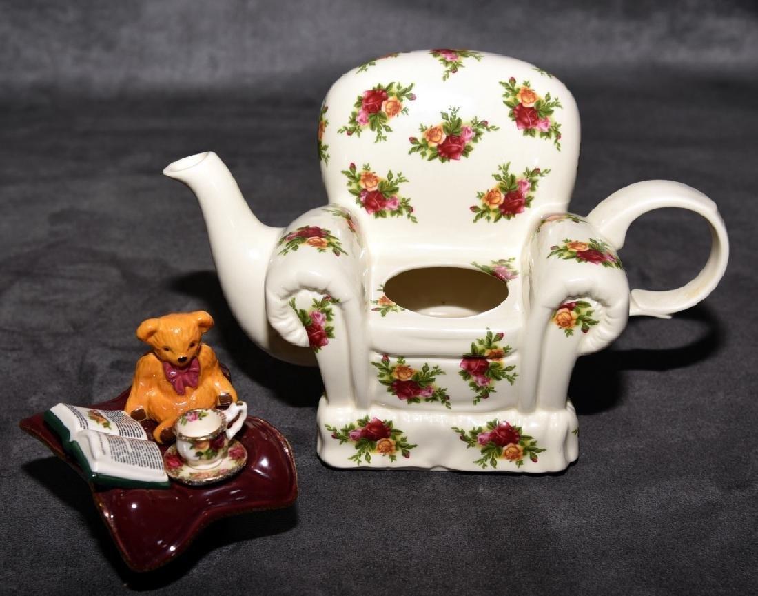 Royal Albert Old Country Roses Miniature Teapot - 3