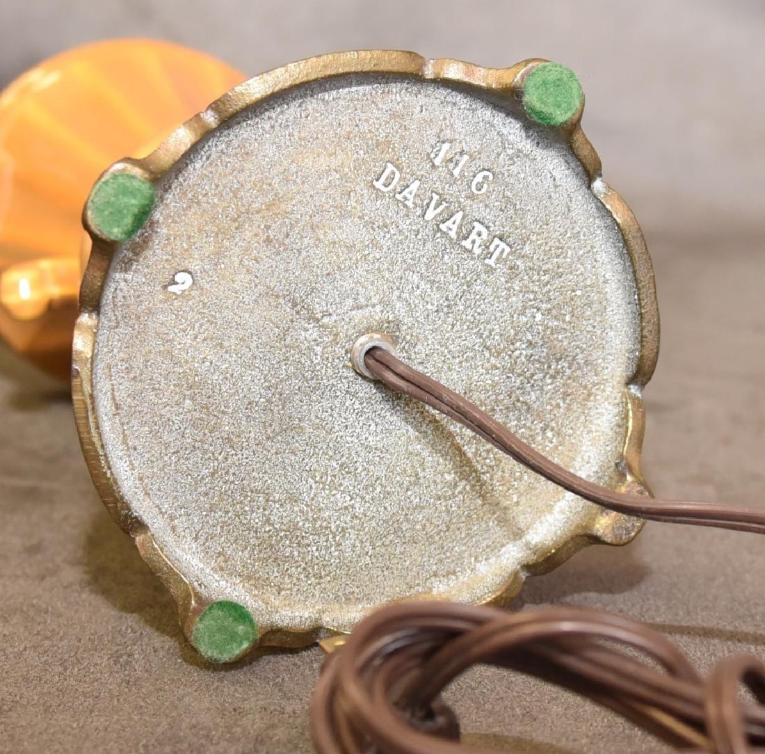 Distressed Pumpkin Color Vintage Lamp - 4