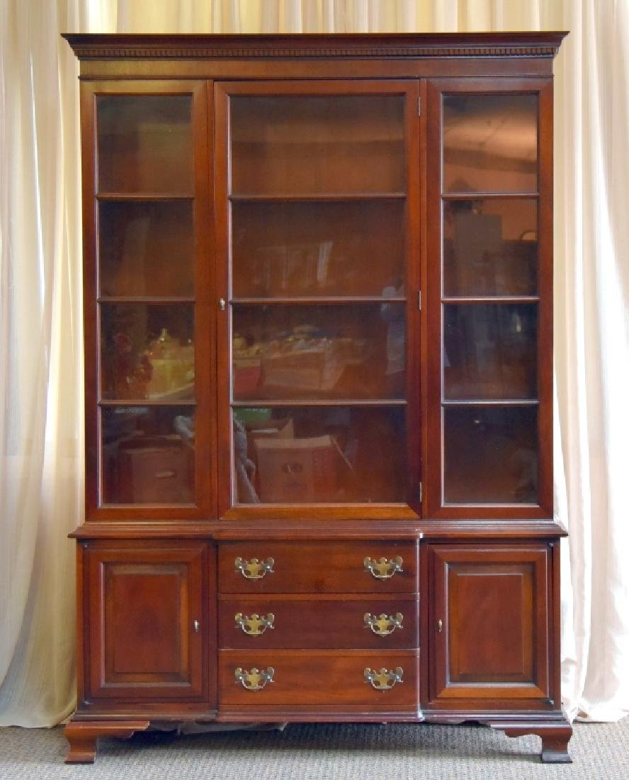 Vintage One Piece China Cabinet