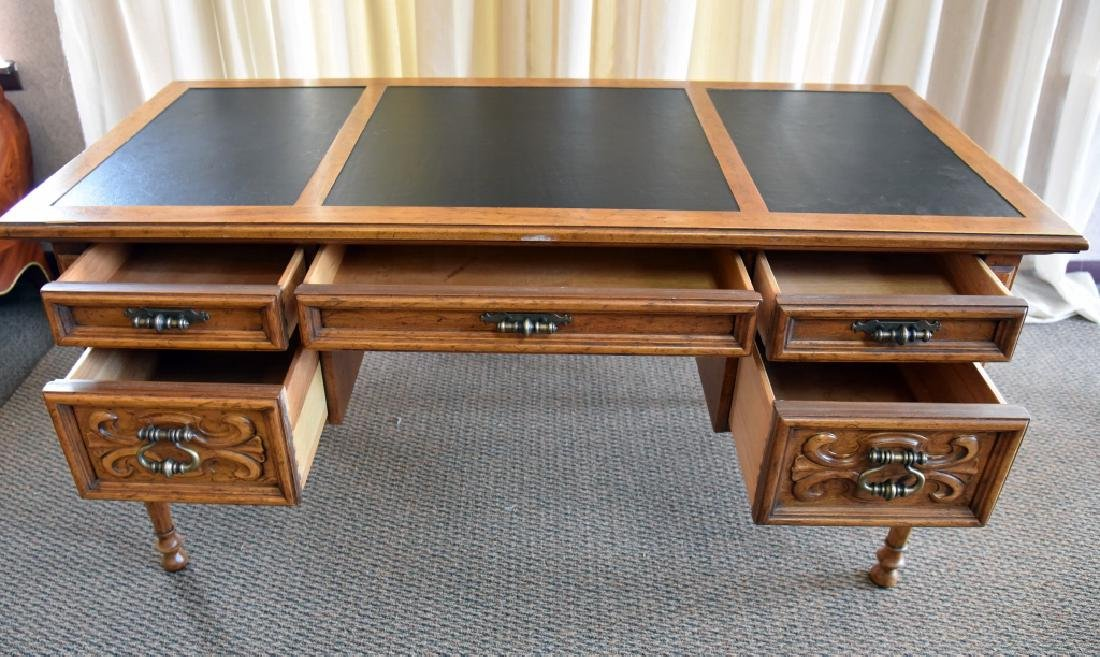 Drexel Leather Top Desk - 3