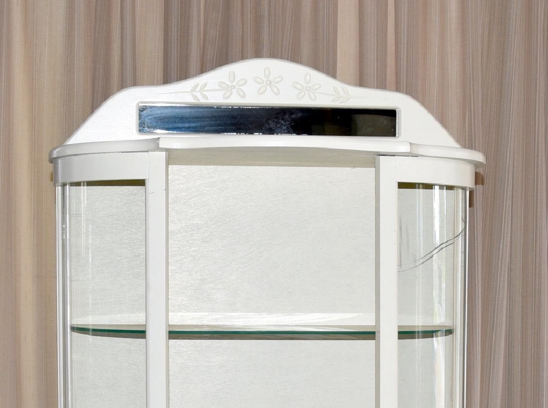 Vintage Painted White Curio/Display Cabinet - 2