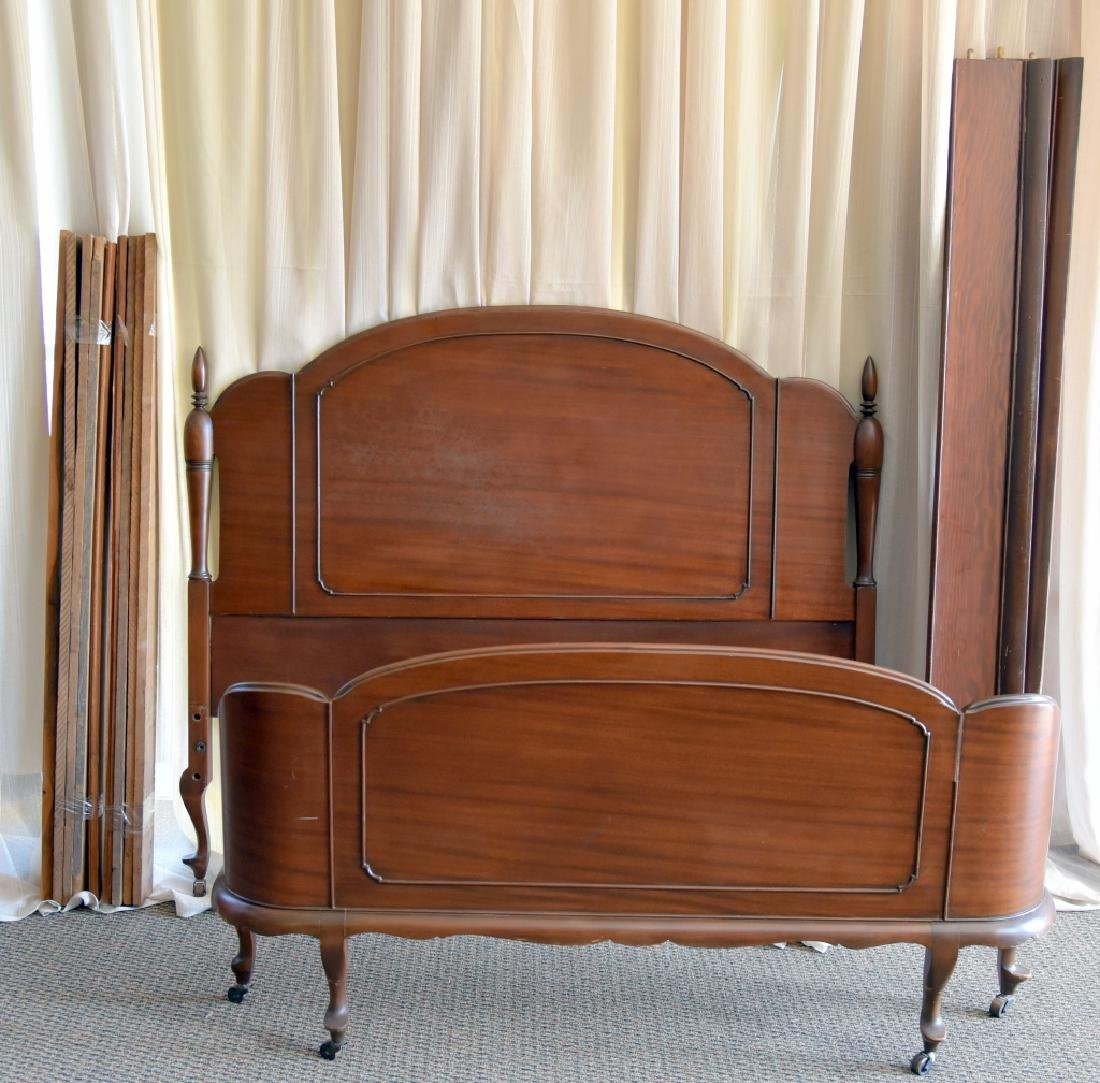 Mahogany Headboard & Curved Footboard