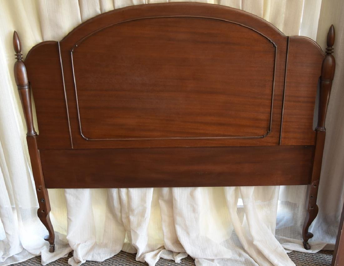 Mahogany Headboard & Curved Footboard - 4
