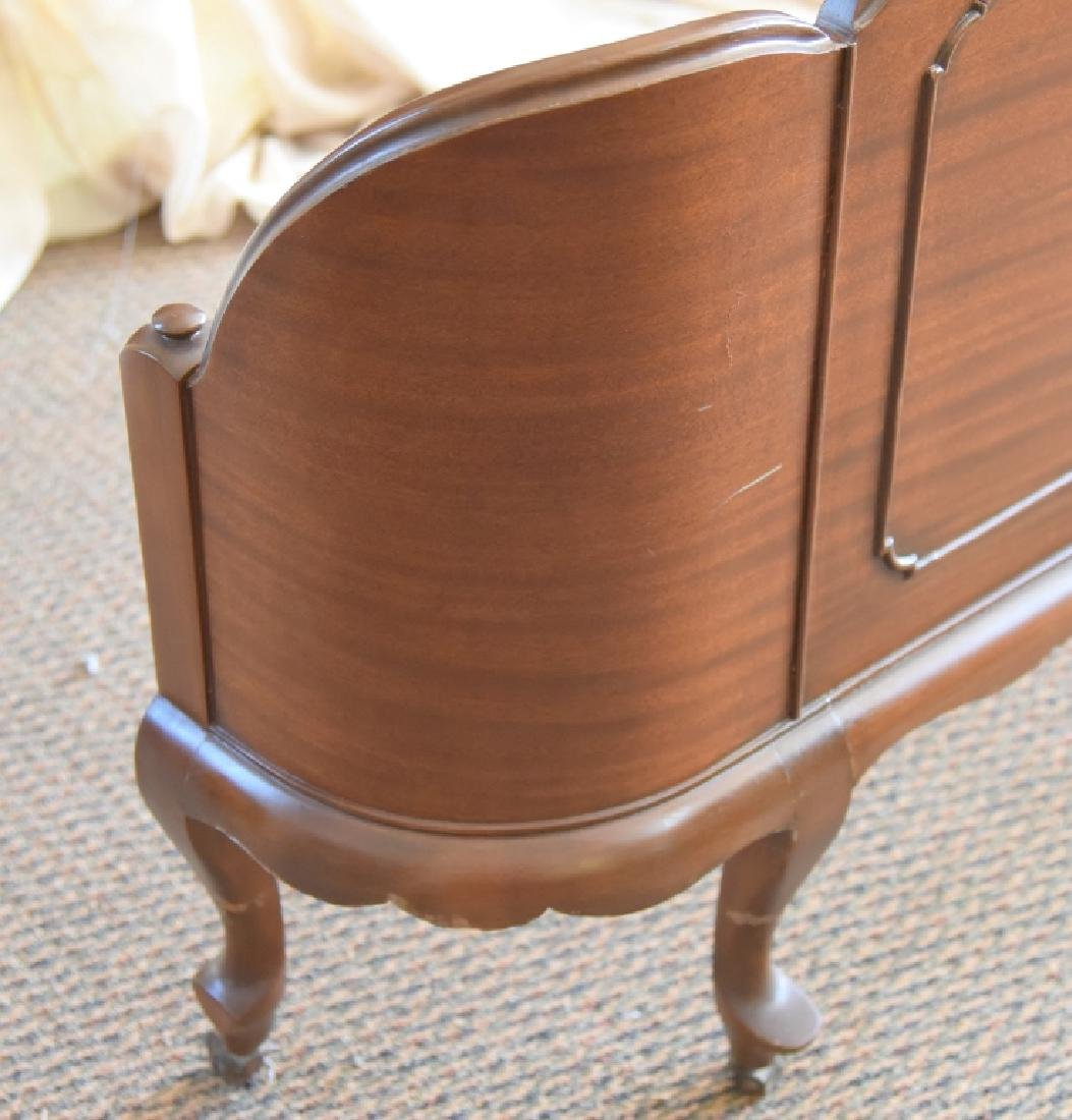 Mahogany Headboard & Curved Footboard - 5