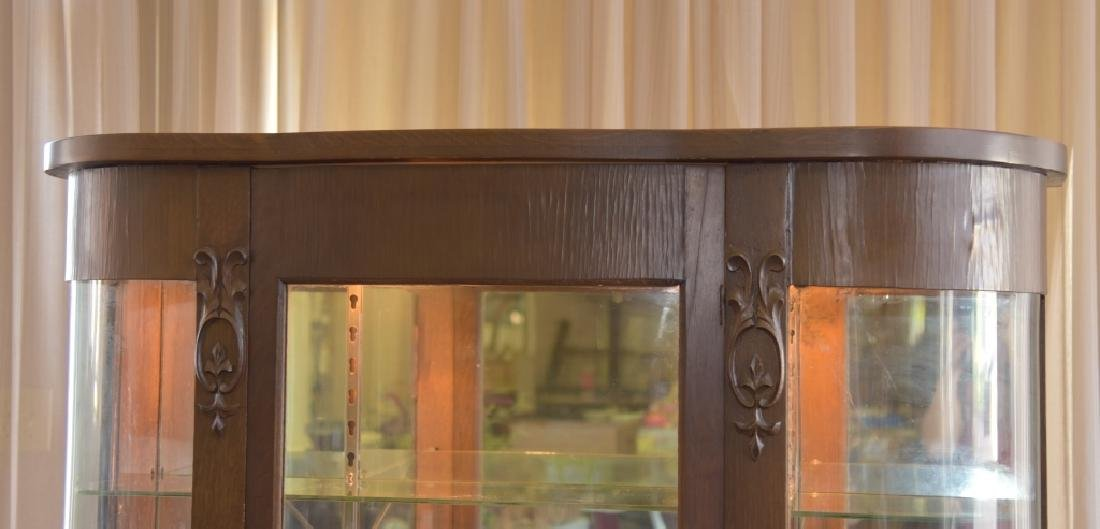 Empire Style Curved Glass Curio - 2