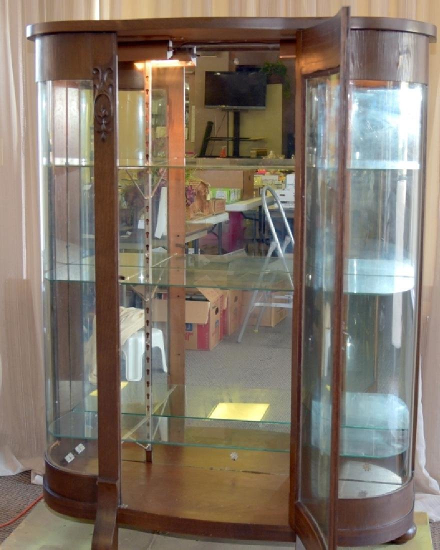 Empire Style Curved Glass Curio - 3