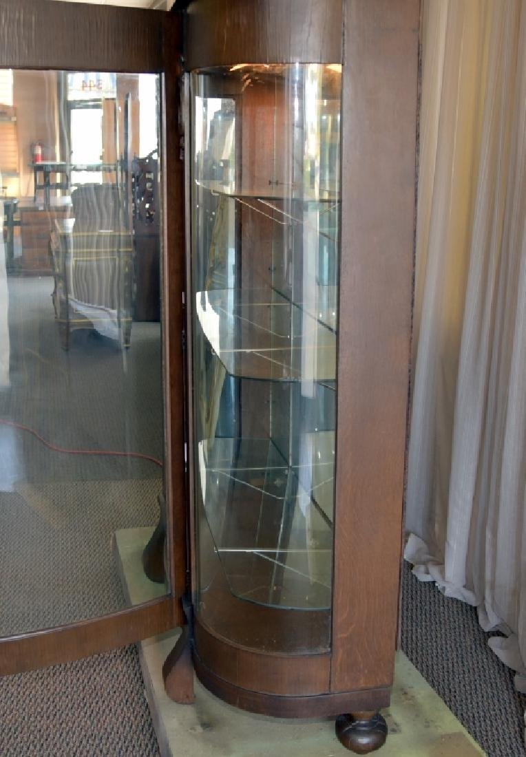 Empire Style Curved Glass Curio - 4