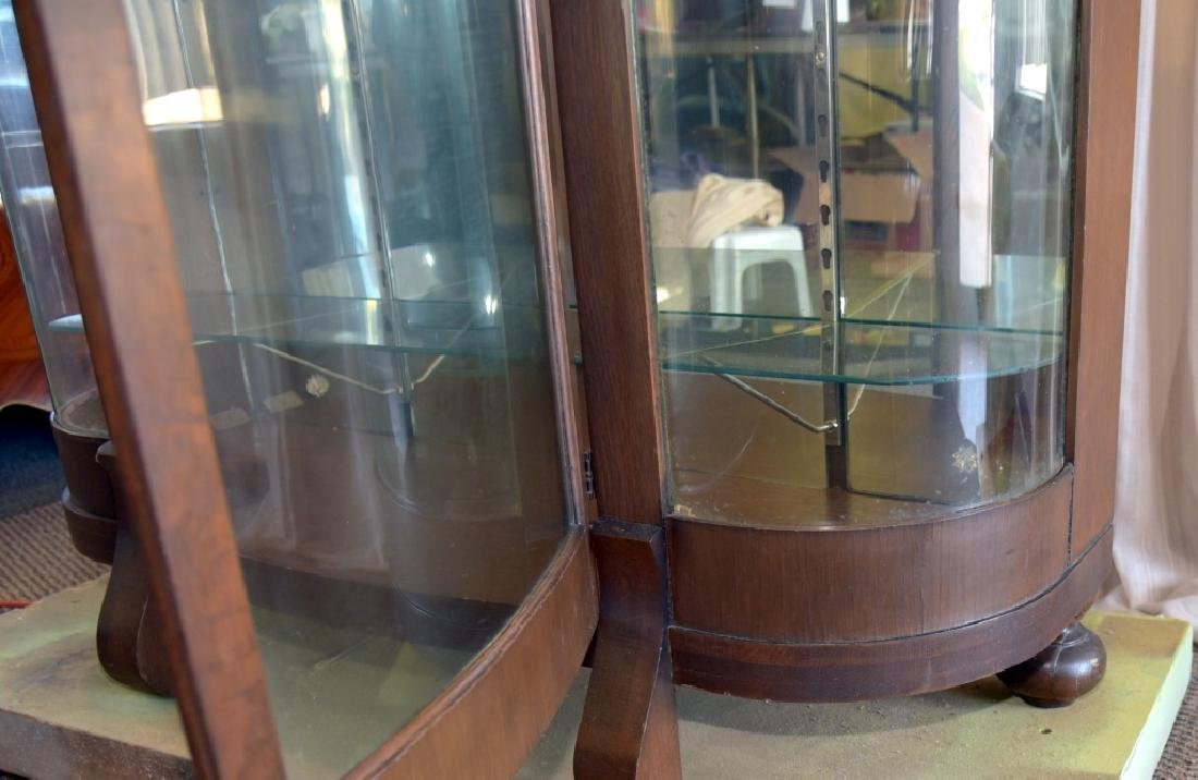 Empire Style Curved Glass Curio - 5