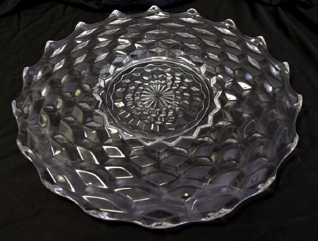 "Fostoria American 18"" Diameter Torte Plate"