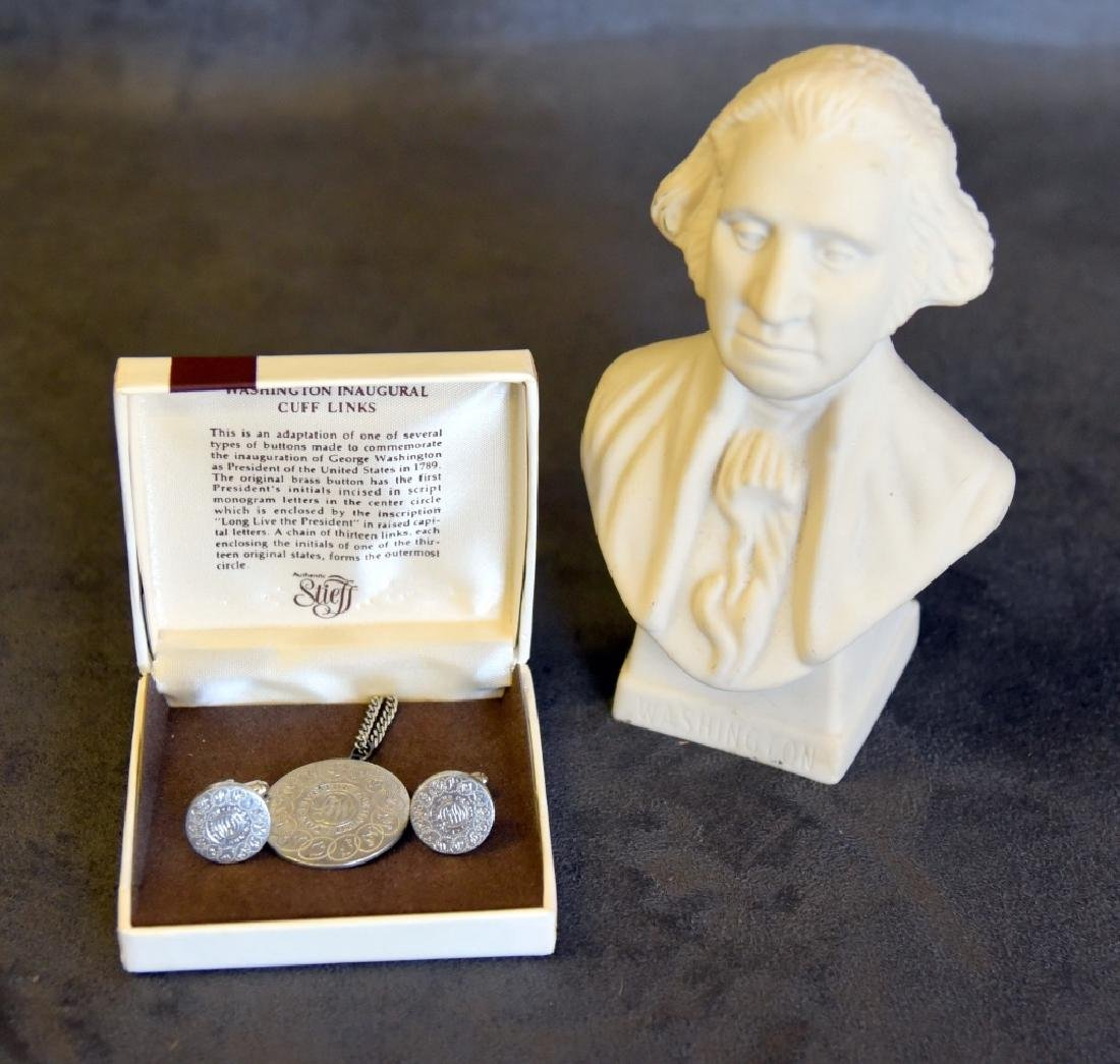 George Washington Bust & Reproduction Jewelry