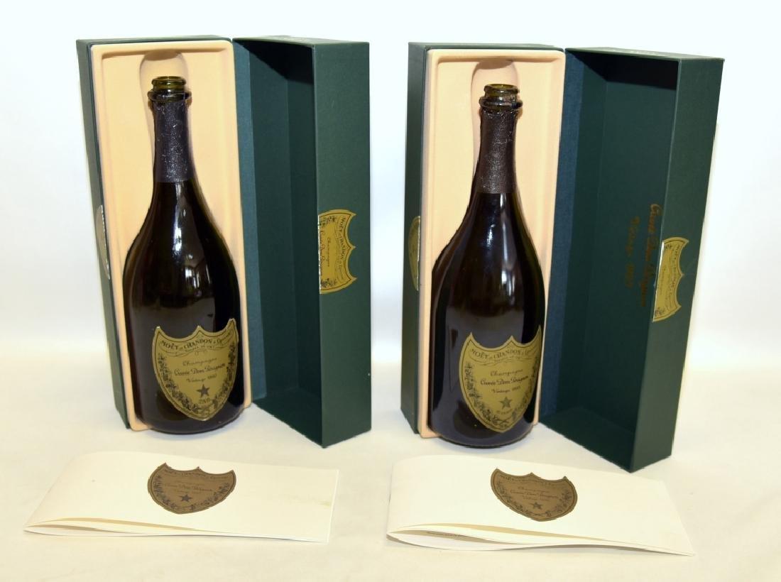 1990 & 1993 Cuvee Dom Perignon Collectible Bottles