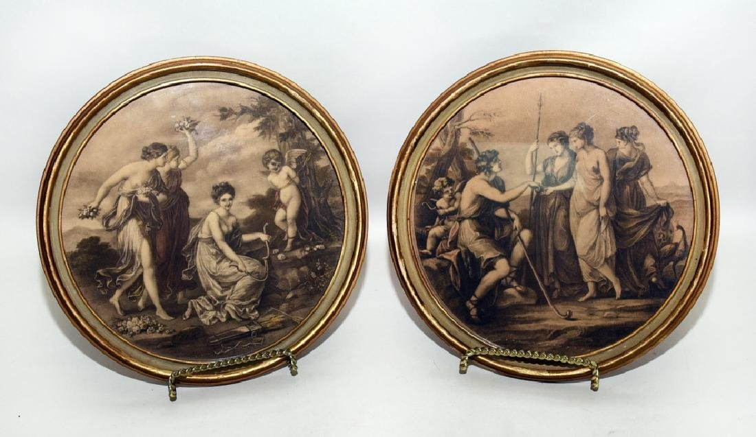Framed Round Classical Prints