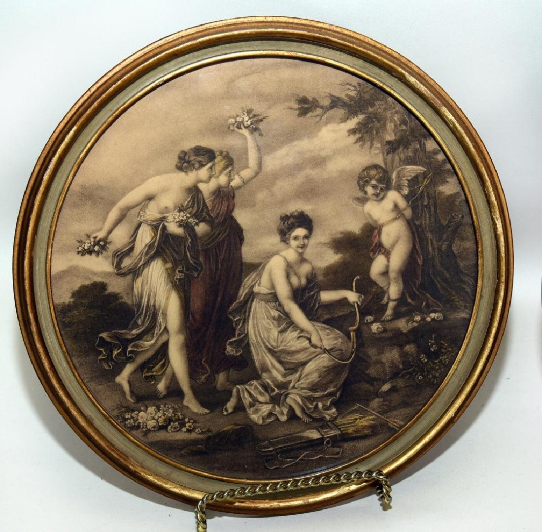 Framed Round Classical Prints - 2