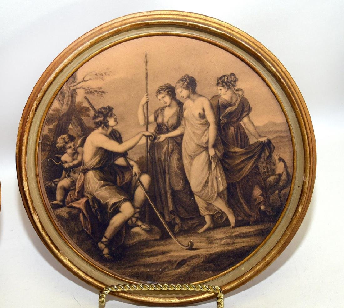 Framed Round Classical Prints - 3
