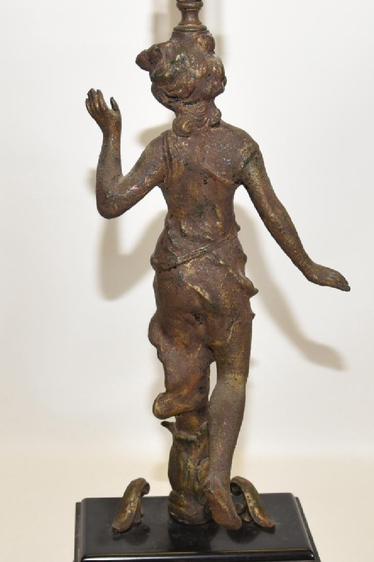Classical Figural Lamp Raised on Black Block - 4