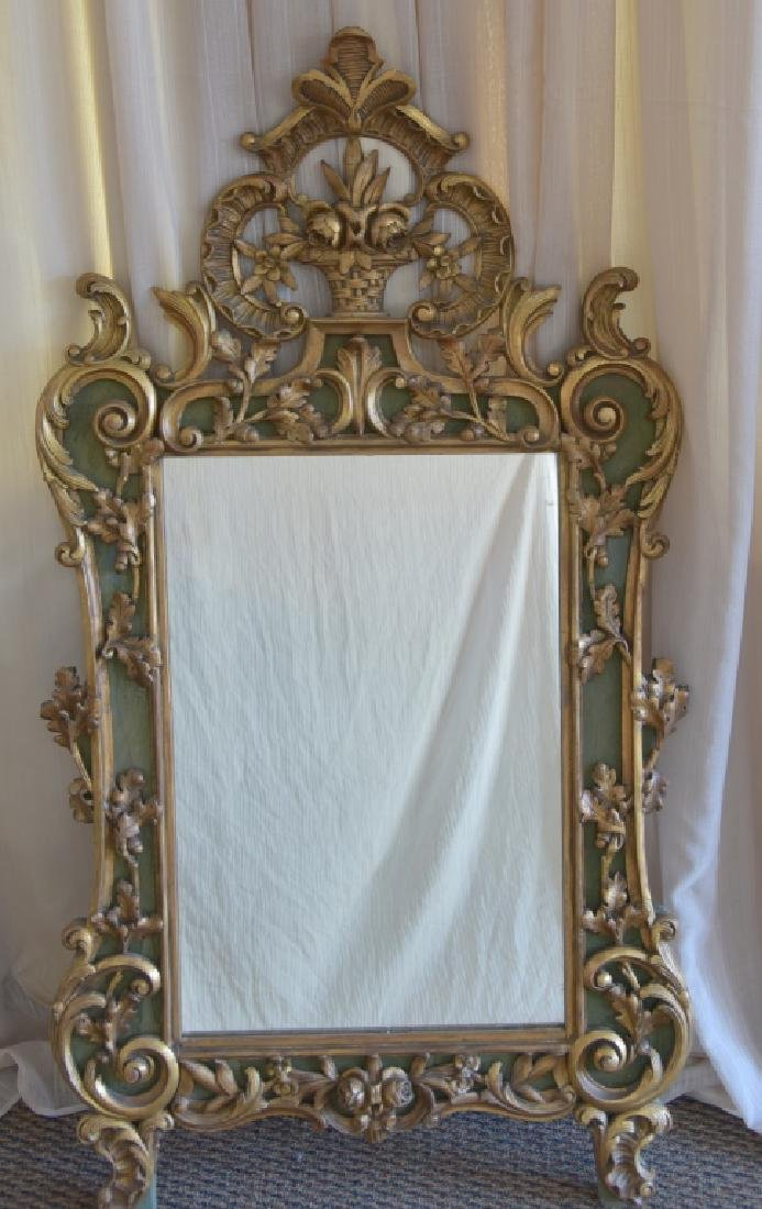 Vintage Gold Scroll Mirror