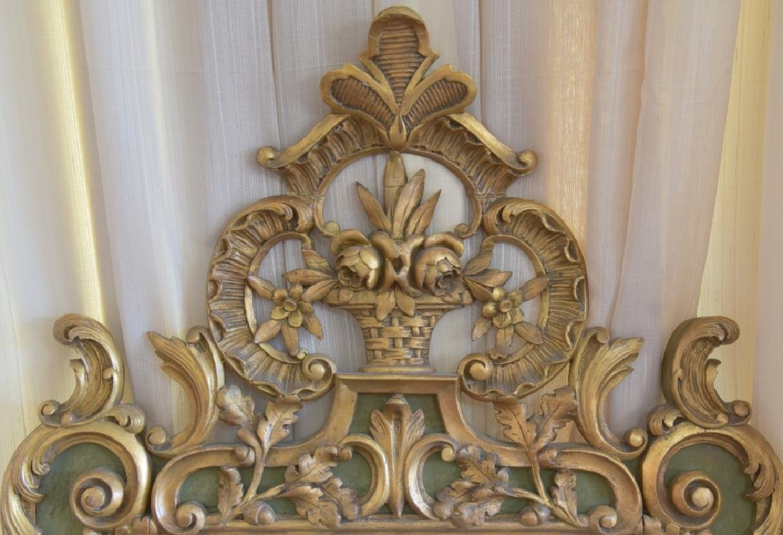 Vintage Gold Scroll Mirror - 2