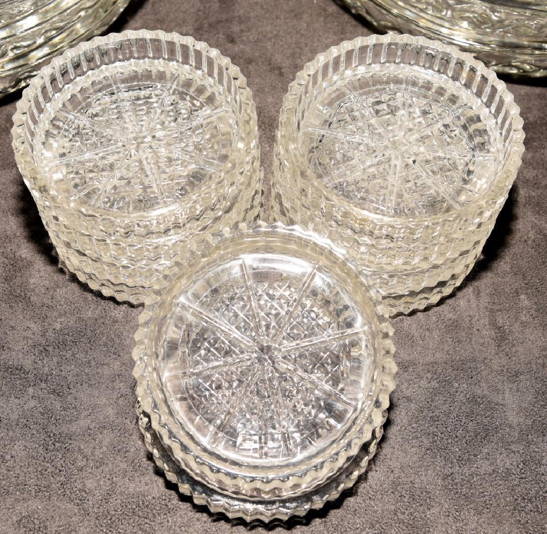 Heavy Glass Ice Cream Dishes & Pressed Coasters - 2