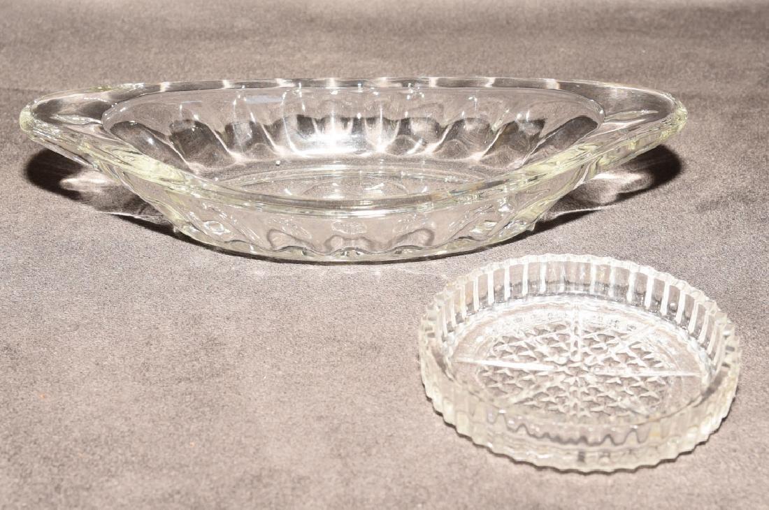 Heavy Glass Ice Cream Dishes & Pressed Coasters - 3
