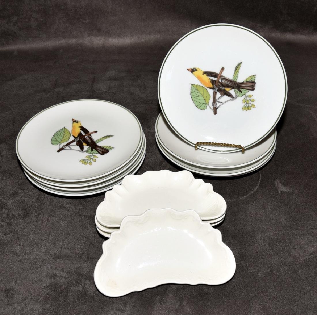 Japanese Bird Plates & Johnson Bros. Bone Dishes