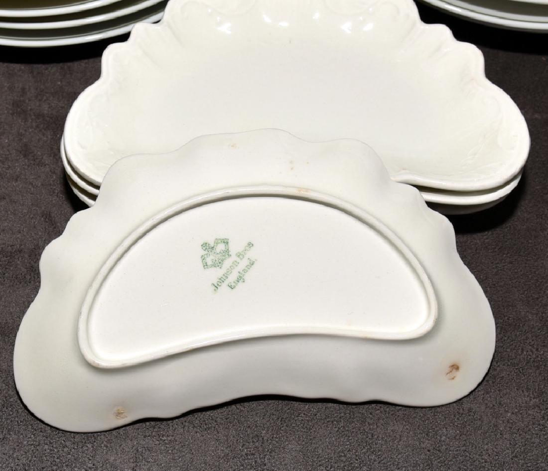 Japanese Bird Plates & Johnson Bros. Bone Dishes - 5