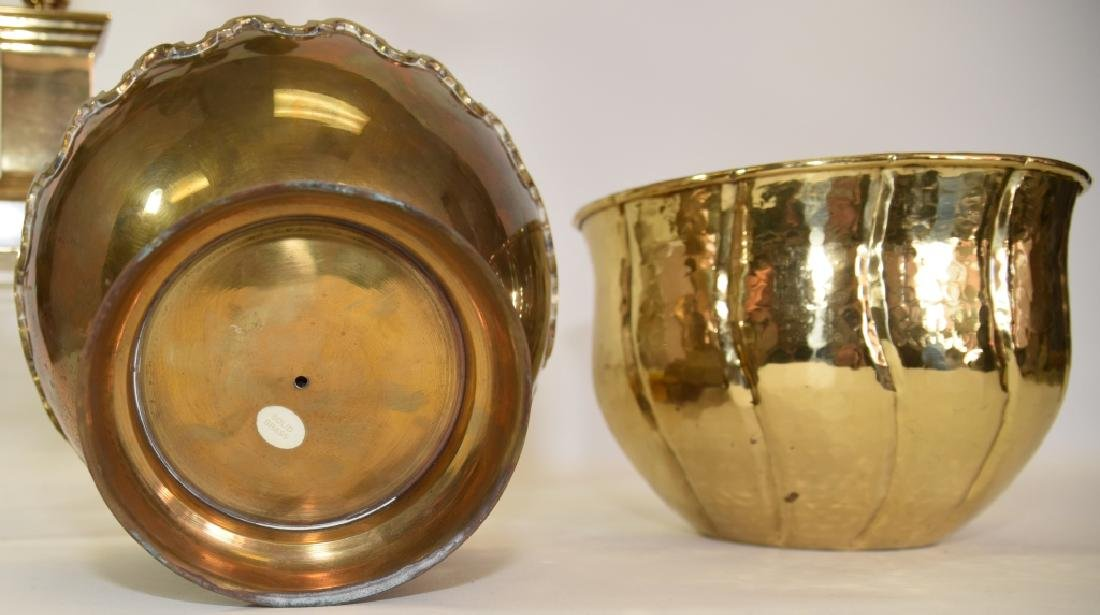 Classical Brass Candelabra and Two Brass Bowls - 3