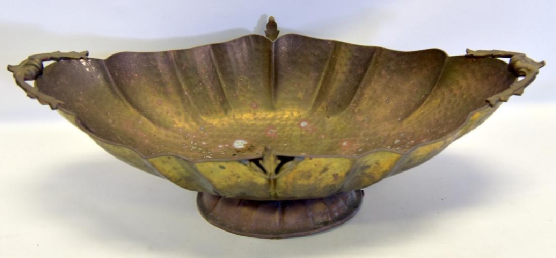 Brass Lot w/Large Bowl, Bell, Cream & Sugar - 4