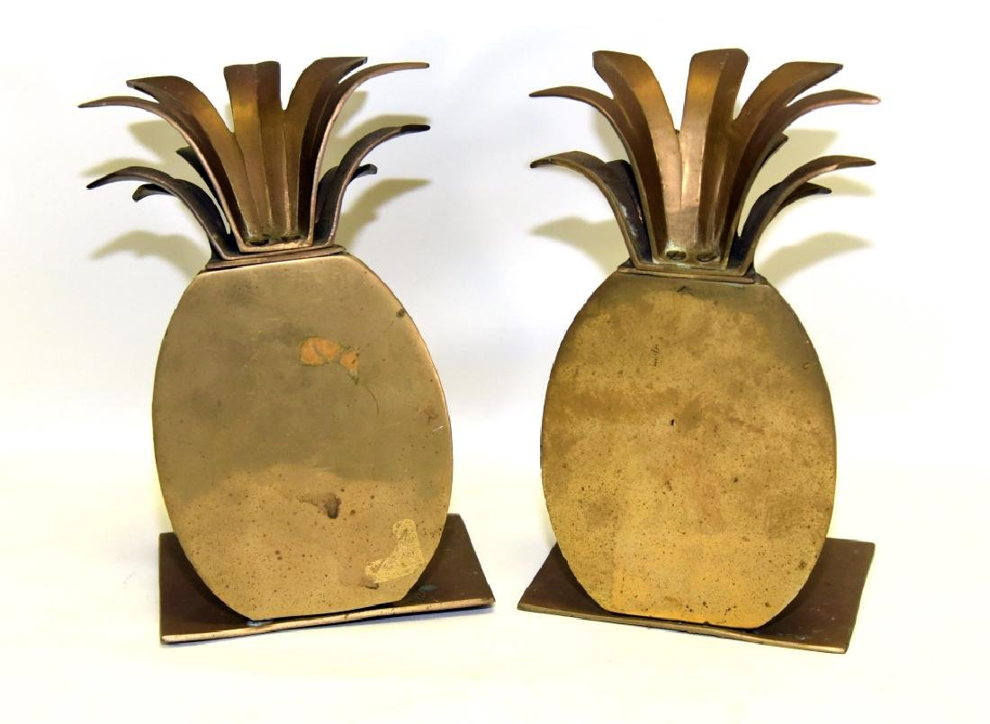 Brass Pineapple Bookends & Candleholders - 4