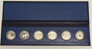 6 Sterling Coins, Men in Space 1st Ed., Series II