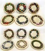 12 Lenox Ltd Ed Colonial Christmas Wreath Plates