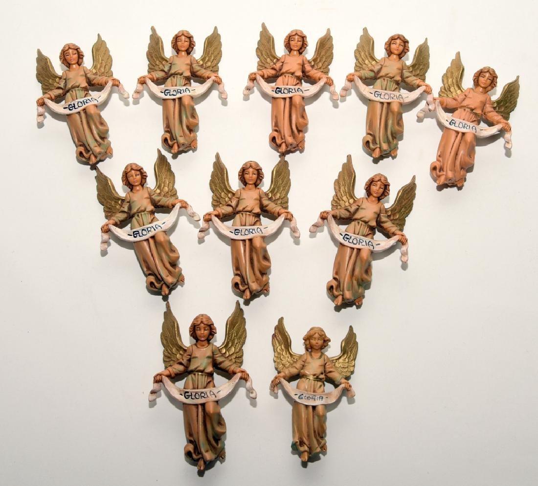 10 Italian Fontanini Christmas Angel Ornaments