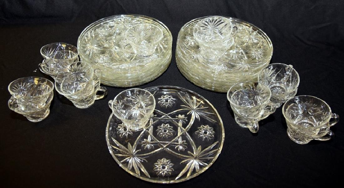 16 Vintage Round Plate Snack Sets