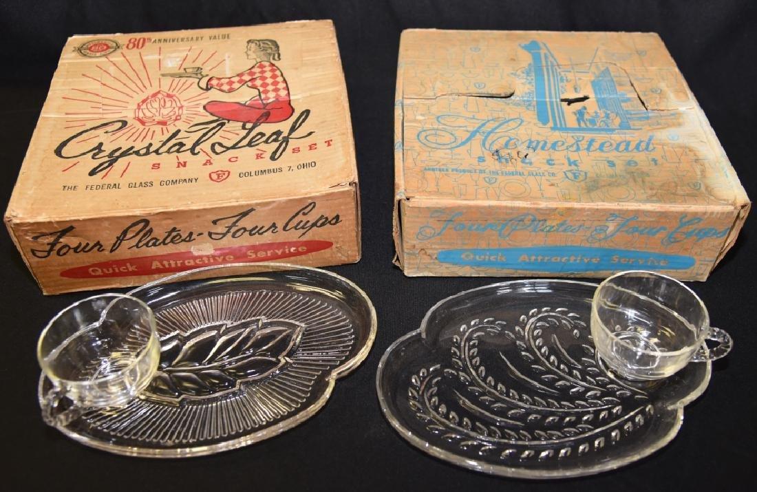 2 Vintage Snack Sets in Original Boxes