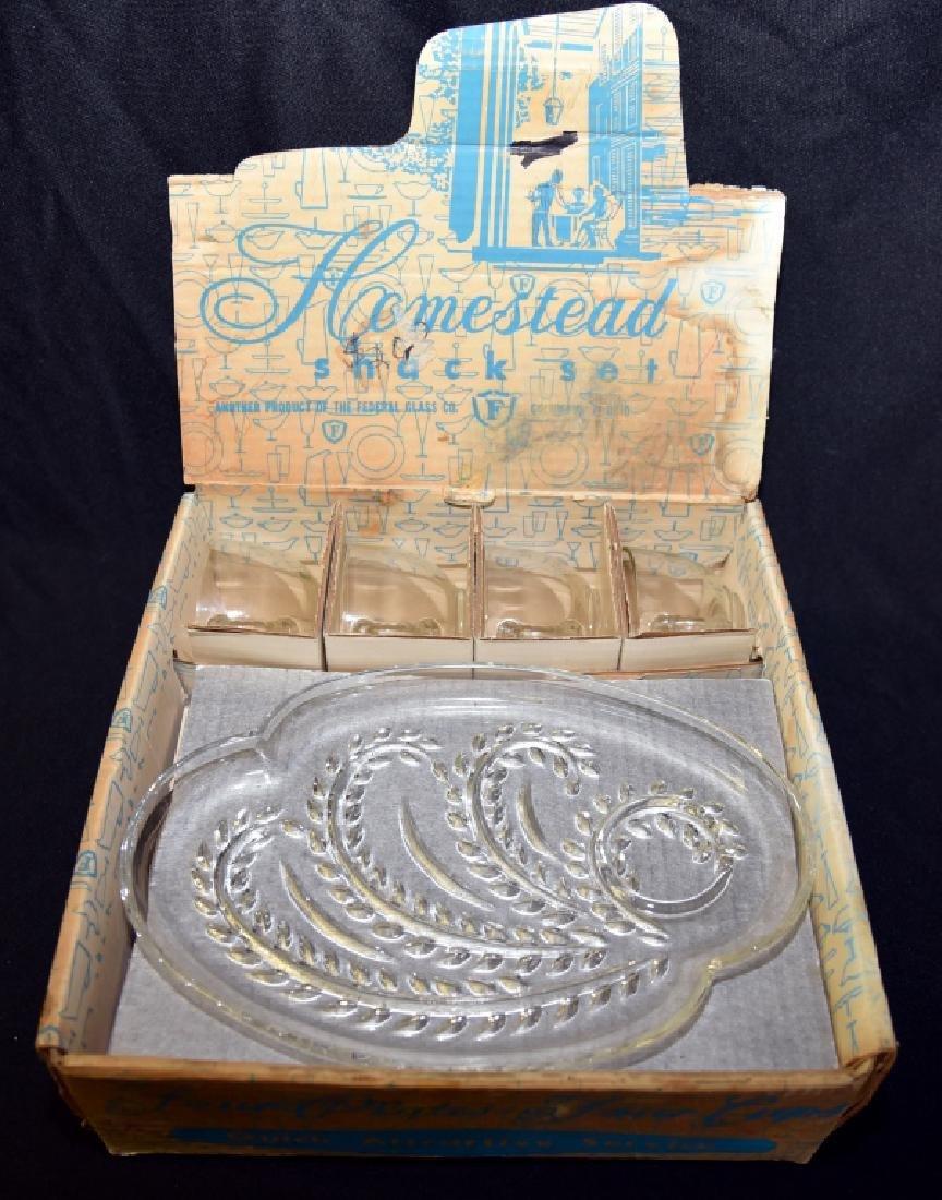 2 Vintage Snack Sets in Original Boxes - 6