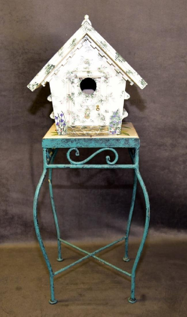 Tile Top Table & Bird House