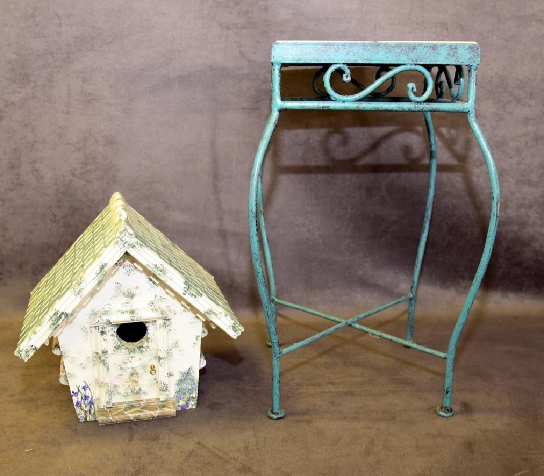 Tile Top Table & Bird House - 2