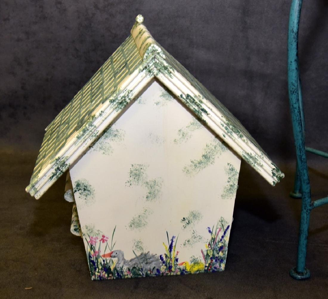 Tile Top Table & Bird House - 5